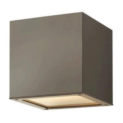 Hinkley Lighting 1766BZ-GU24 Kube - One Light Small Outdoor Wall Mount