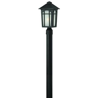 Hinkley Lighting 1981BK Cedar Hill - One Light Outdoor Post