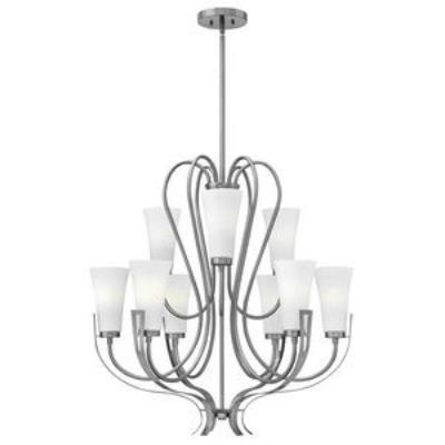 Hinkley Lighting 4228BN Channing - Nine Light 2-Tier Chandelier