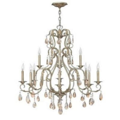 Hinkley Lighting 4778SL 12 LIGHT CHANDELIER