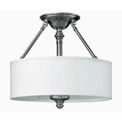 Hinkley Lighting 4791BN Sussex Three Light Ceiling Fixture