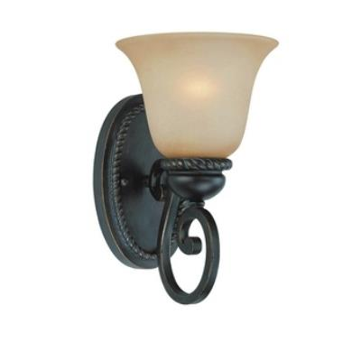 Jeremiah Lighting 25201-MB Highland Place - One Light Wall Sconce