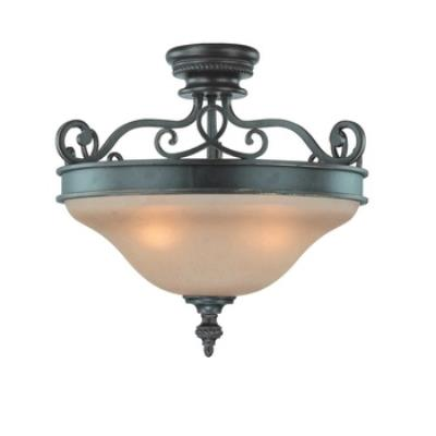 Jeremiah Lighting 25243-MB Highland Place - Three Light Semi-Flush Mount