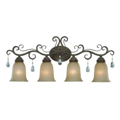 Jeremiah Lighting 25604-FR Englewood - Four Light Bath Vanity