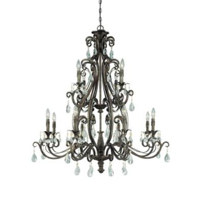 Jeremiah Lighting 25612-FR Englewood - Twelve Light Chandelier