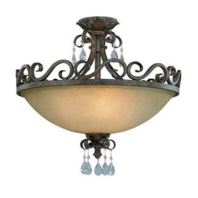 Jeremiah Lighting 25634-FR Englewood - Four Light Convertible Semi-Flush Mount
