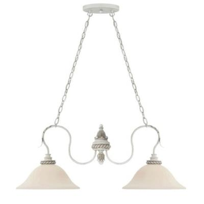 Jeremiah Lighting 27332-ATL Zoe - Two Light Island