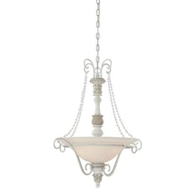Jeremiah Lighting 27333-ATL Zoe - Three Light Inverted Pendant