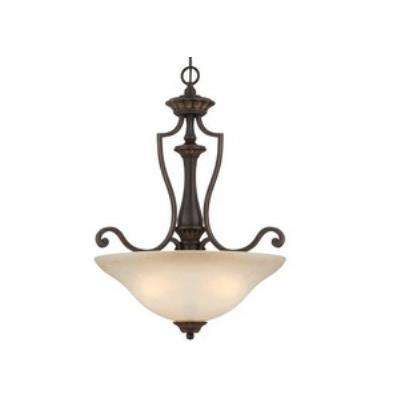 Jeremiah Lighting 28243-ABZG Josephine - Three Light Inverted Pendant