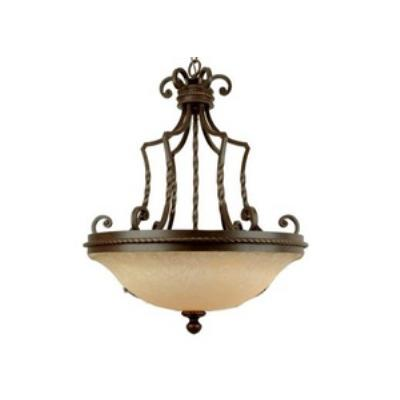 Jeremiah Lighting 8123AG3 Riata - Three Light Large Pendant