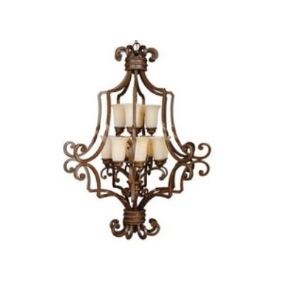 Jeremiah Lighting 8133AG12 Riata - Twelve Light 2-Tier Large Chandelier
