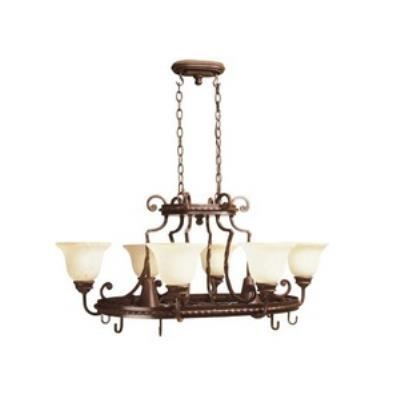 Jeremiah Lighting 8138AG8 Riata - Eight Light Chandelier