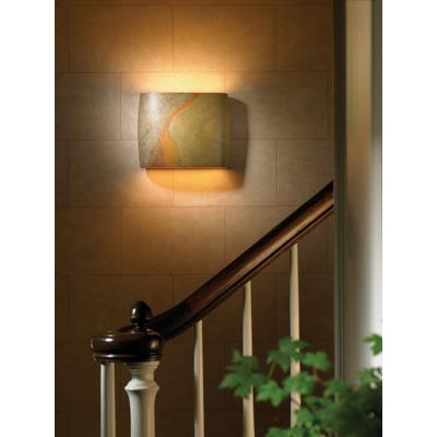 Justice Design 8855 ADA Wide Oval Wall Sconce Open Top and Bottom