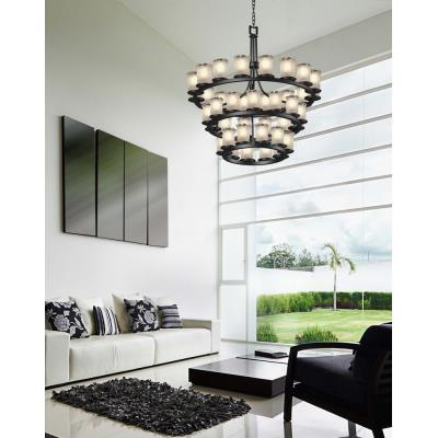 Justice Design GLA-8713 Dakota - Thirty-Six Light Three Tier Ring Chandelier