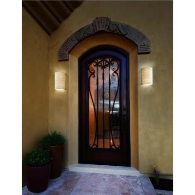 Justice Design GLA-5542W Vento Luce - One Light Outdoor Curved Wall Sconce