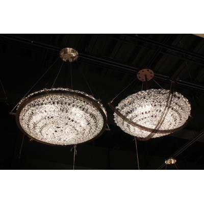 Justice Design GLA-9722 Veneto Luce - Six Light Bowl Pendant with Crossbar