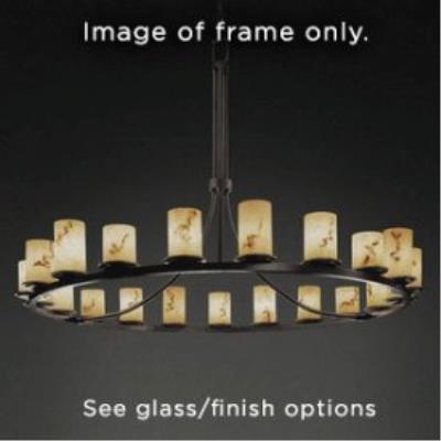 Justice Design WGL-8716 Dakota 2One Light 1-Tier Ring Chandelier