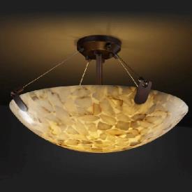 Justice Design PNA-9617 Porcelina - Eight Light Semi-Flush Mount with U-Clip