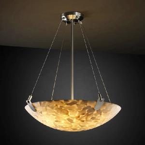 Porcelina - Eight Light Bowl Pendant with U-Clip