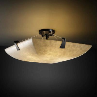 Justice Design PNA-9634 Porcelina - Eight Light Semi-Flush Mount with Tapered Clip