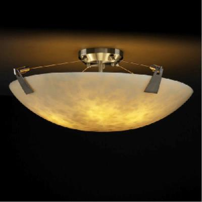 Justice Design PNA-9637 Porcelina - Eight Light Semi-Flush Mount with Tapered Clip