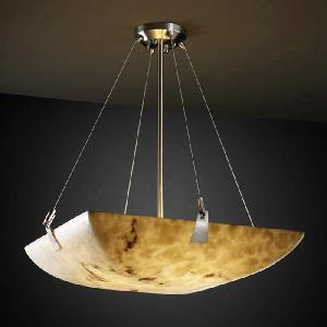 Porcelina - Eight Light Bowl Pendant with Tapered Clip