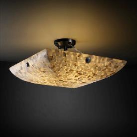 Justice Design PNA-9654 Porcelina - Eight Light Semi-Flush Mount