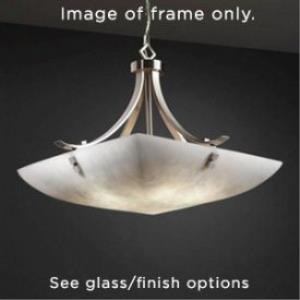 "24"" Pendant Bowl - Flat Bars w/ Finials"