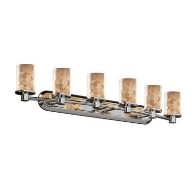 Justice Design ALR-8516 Alabaster Rocks - Six Light Rondo Bath Bar