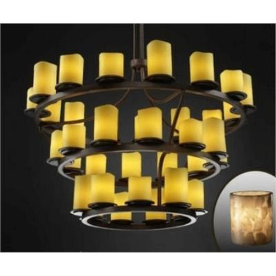 Justice Design ALR-8713 Dakota 36-Light 3-Tier Ring Chandelier (Inverted)