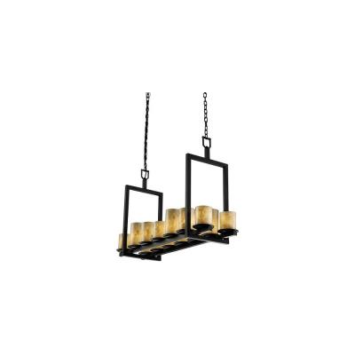 Justice Design ALR-8769 Dakota 14-Light Bridge Chandelier (Short)