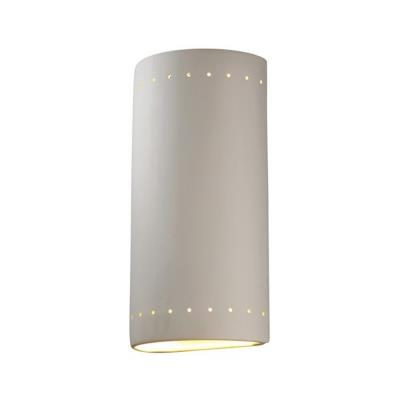 Justice Design 1190W Really Big Cylinder W/ Perfs Closed Top Outdoor Sconce