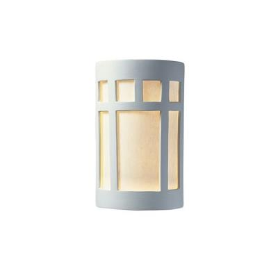 Justice Design 5340W Small Prairie Window Closed Top Outdoor - ADA Sconce