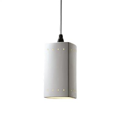 Justice Design 6215 Rectangle Pendant W/ Perfs