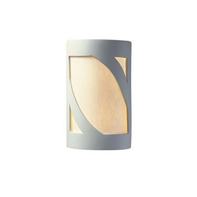 Justice Design 7355W Large Prairie Window Open Top and Bottom Outdoor Sconce
