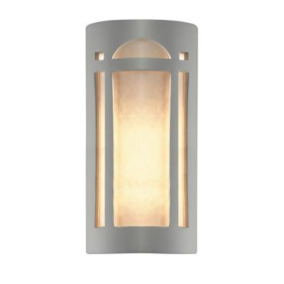 Justice Design 7397W Really Big Arch Window Open Top and Bottom Outdoor Sconce