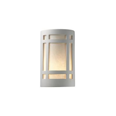 Justice Design 7485 Small Craftsman Window Open Top and Bottom Sconce