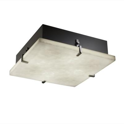 "Justice Design CLD-5557 Clips 16"" Square Flush-Mount"