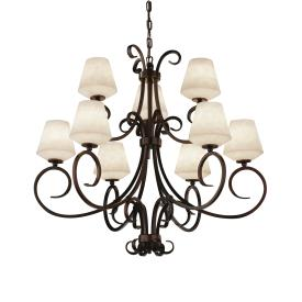 Justice Design CLD-8577 Victoria 9-Light 2-Tier Chandelier