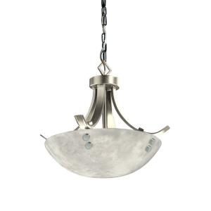 "14"" Pendant Bowl - Flat Bars & Finials"