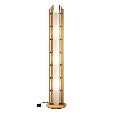 Justice Design DOM-8000 Domus - Three Light Beech Wood Floor Lamp