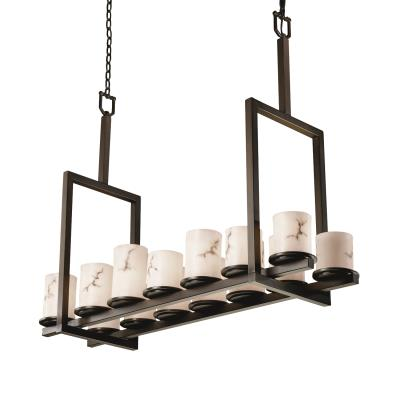 Justice Design FAL-8764 Dakota 14-Light Bridge Chandelier (Tall)