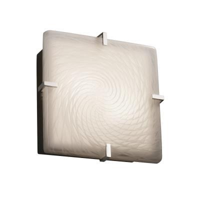 """Justice Design FSN-5555 Clips 12"""" Square Flush-Mount"""