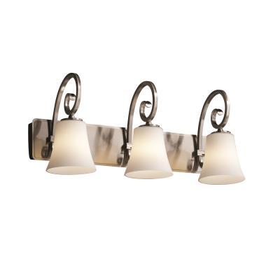 "Justice Design FSN-8573 Fusion - 25.5"" Three Light Bath Bar"