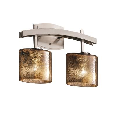 "Justice Design FSN-8592 Fusion - 15.5"" Two Light Bath Bar"