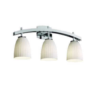 "Justice Design FSN-8593 Fusion - 25.5"" Three Light Bath Bar"