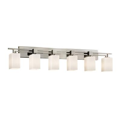 "Justice Design FSN-8706 Fusion - 56.5"" Six Light Bath Bar"