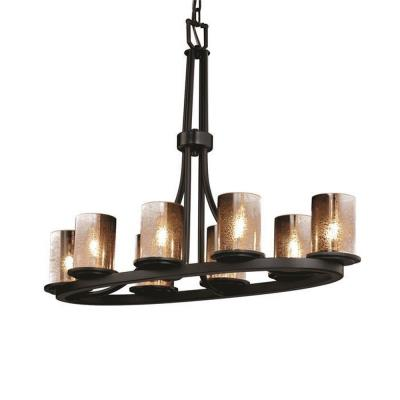Justice Design FSN-8751 Dakota 8-Light Oval Ring Chandelier