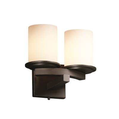 Justice Design FSN-8775 Dakota 2-Light Curved-Bar Wall Sconce