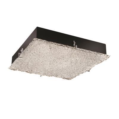 "Justice Design GLA-5558 Veneto Luce - 24"" Square Clips Flush-Mount/ Wall Sconce"
